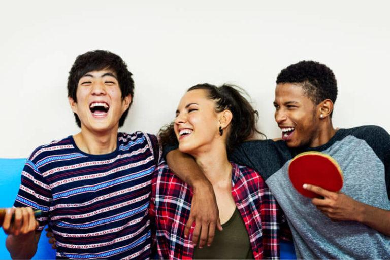 Jugendliche Tischtennis